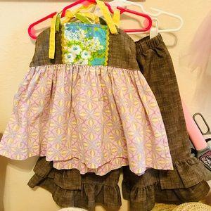 Size 4 Matilda Jane Violet+ Ellie & Lindy Ruffles